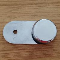 Wholesale 180 degree wall to glass clip with round botton from china suppliers