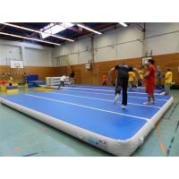 Wholesale Blue Top Inflatable Air Track Mat For Fitness Center Training Customized Pressure from china suppliers