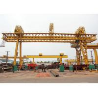 Truss Double Girder Gantry Crane Industrial A Frame Rubber Tired Electric Motors Driving for sale
