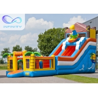Wholesale 6.5m Beach Water Jumping 4 In 1 Inflatable Water Slides from china suppliers