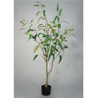 China 5 Feet Artificial Decorative Trees Eucalypt Bonsai Easy Care With Pot Base for sale