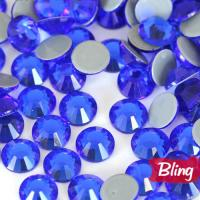 China Capri Blue Sparkly Glass Hot Fix Rhinestones SS20 on sale