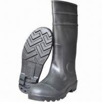 China Safety Boots, Made of PVC Material with Steel Toe/Midsole on sale
