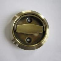 Wholesale Recessed drawer pull furniture oblique hidden flush ring handle from china suppliers