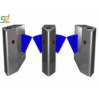 Wholesale Controlled Access Flap Barrier Gate , Security Steel Half Height Turnstile Door from china suppliers