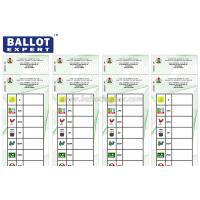 Quality Full Color Printing Voting Ballot Paper Size Customized With Election Serial for sale