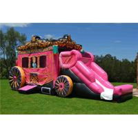 Buy cheap Party Commercial 0.55mm PVC Inflatable Bouncer , Disney Princess Carriage from wholesalers