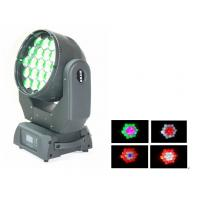 Wholesale Best Sellers 19×15w LED Moving Head Wash Light RGBW Wash Motorised Zoom from china suppliers