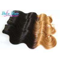 Wholesale Brazilian Soft 25 inch Two Color Ombre Remy Hair Extensions Body Wave from china suppliers