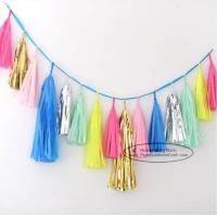 China Bright-coloured Colorful Paper Tassel Garland Birthday Party Garland for sale