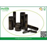 Wholesale Black Custom Cardboard Tubes , Paper Cylinder Containers For Eyelash Packaging from china suppliers
