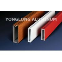 Wholesale Red 6060 6061 6063 Aluminum Curtain Wall Profile 1.2 / 1.4 Thinckness from china suppliers