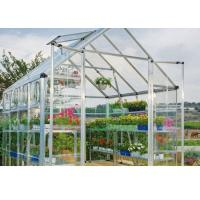 Wholesale White Clear One Stop Gardens Greenhouse , 10mm Polycarbonate Sheet Greenhouse from china suppliers