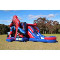 Buy cheap Funny Inflatable Bouncer , Durable Logo Printing Spider - Man Combo Jumping from wholesalers