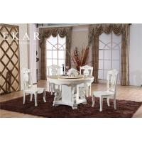 China Carved White Antique Wooden Dining Chair on sale