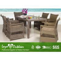 Outdoor Sectional Patio Furniture Dining Sets for Garden Alum Round Wicker