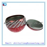 Wholesale Round Ball shaped tin box from china suppliers