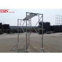"Wholesale Sturdy Steel Ladder Frame Scaffolding Zinc Plated For Mansonry 3'×3'6"" from china suppliers"