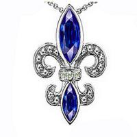 Wholesale Colored Crystal  Women Fashion Jewelry Pendants Religous Lis De Feur from china suppliers