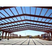China Big Span Warehouse Steel Structure With Red Anti - Rust Painting for sale