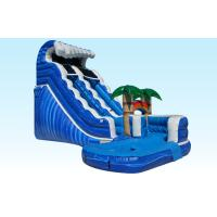 Wholesale PVC Blue Jungle Monster Inflatable Wave Slide With Pool , 25L x 15W x 18H from china suppliers