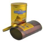Custom design round chocolate candy tin box / tin box wholesale