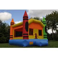 Wholesale Double - Tripple Stitch Kids Inflatable Bouncers With 4 Pinnacle from china suppliers