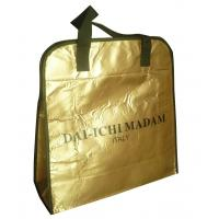 Wholesale DAI - ICHI MADAM 90g brozen lamination black webbing handy non woven carry bag from china suppliers