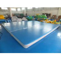 Quality Floating Water Blue Inflatable Sports Games Air Track Tumbling Mat For Gymnastics for sale
