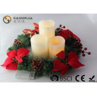 Wholesale 3pk Ivory Wax Decorative Led Candles With Remote Control DL-005 from china suppliers