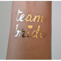 Buy cheap Team Bride Temporary Wedding Metallic Tattoo Stickers Waterproof Removable from Wholesalers