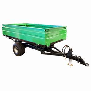 Wholesale 2wheel Tractor end dump trailer  load capacity 1ton 2ton 3ton 4ton 5ton from china suppliers