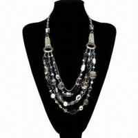 Wholesale Fashionable Beaded Necklace with shell and glass beads from china suppliers