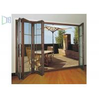 Wholesale Clean Contemporary Aluminium Folding Exterior Door With Double Tempered Glass from china suppliers