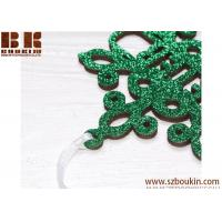 Wholesale Personalized Christmas Snowflake / Green Glitter Snowflake, Wooden Snowflake Ornament, Christmas Decorations from china suppliers