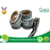 Wholesale 15mm * 10m Black and White Washi Tape Premium Japanese Washi Tape For Decorative from china suppliers