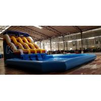 Wholesale Durable PVC Inflatable Water Slide With Swimming Pool For Water Sport Games from china suppliers