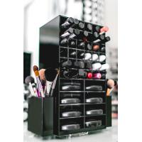 Wholesale High clear customized acrylic spinning lipstick holder rotatable makeup organizer from china suppliers