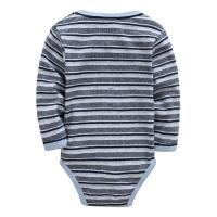 Wholesale Autumn Stripe Organic Cotton Long Sleeve Baby Romper Customized Color from china suppliers
