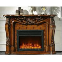 Wholesale Artificial Decorative Freestanding Antique Wood Fireplace European from china suppliers
