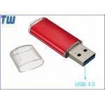 China Durable Metal Body USB 3.0 Thumb Drive Transparent Cap Design for sale