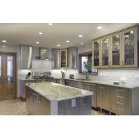 Buy cheap L - Shape Stainless Steel Kitchen With Glass Door / Natural Quartz Stone from wholesalers