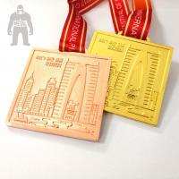 Wholesale Golden  Silver Metal  Square Medal   For Trophies   Stainless Steel Material from china suppliers