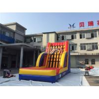 Wholesale Exciting Inflatable Interactive Games , Commercial Grade Inflatable Sticky Wall from china suppliers