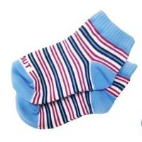 China Custom Eco-friendly Striped Colorfull Knityed Anti-Skid Socks with Organic Cotton for Baby on sale