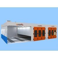 Quality Preparation Area, Painting Spraying And Dry Portable Large Spray Booth With Back Generator for sale