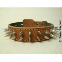 China Spiked leather dog collar with extra punks on sale