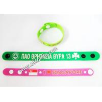 2019 New Promotional Rubber Long Customized Sublimation Printing Silicone Snap Wrist Bands for sale