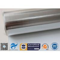 China Silver Coated Fabric 430G 0.43MM Twill Aluminium Foil Fiberglass Pipe Insulation on sale