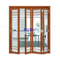 China Tempered Clear Glass Aluminum Folding Doors Flush Appearance Anti Aging on sale